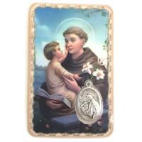 Carte avec médaille Saint Antoine de Padoue