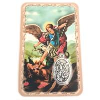 Carte avec médaille Saint Michel Archange