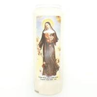 Cierge de neuvaine Sainte Rita (anges)