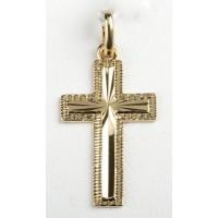Croix plaqué or ouvragée