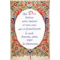 """Carte postale """"Dieu bénisse notre maison"""""""