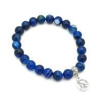 Bracelet homme onyx bleu
